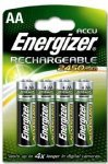 4 x Pack Energizer AA 2450 mAH Rechargeable Batteries